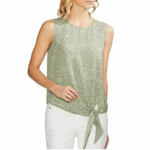 Vince Camuto Floral Tie Front Sleeveless Blouse